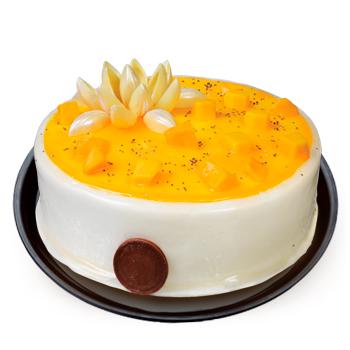 Pastel de vainilla bañado en tres leches y mango solo en pastelerías la Esperanza