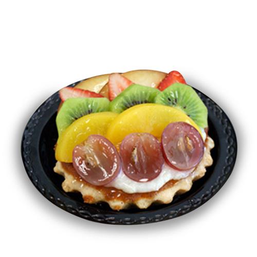 Tartaleta rellena de crema pasteera con frutas de temporada